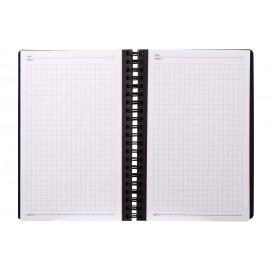 دفتر یادداشت شطرنجی متالیک 100 برگ