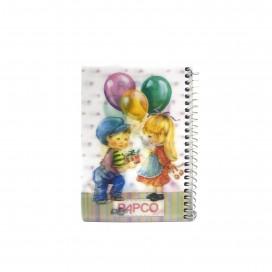 دفتر یادداشت 100 برگ سه بعدی فنر گرد