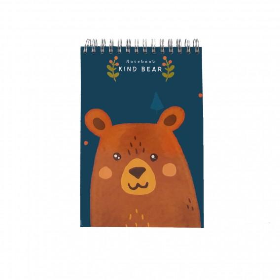 دفتر یادداشت جلد سخت سیمی 80 برگ فنر دوبل