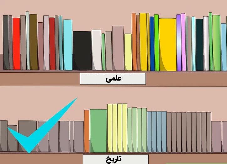 نحوه چیدمان کتابخانه