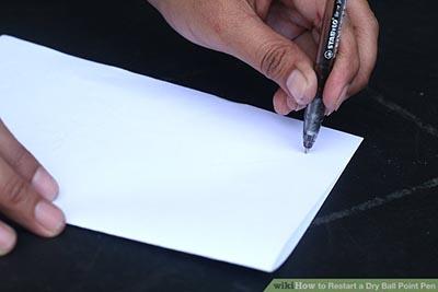 استفاده مجدد از خودکار خشک شده