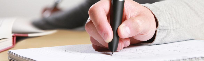 شیوه درست دست گرفتن خودکار